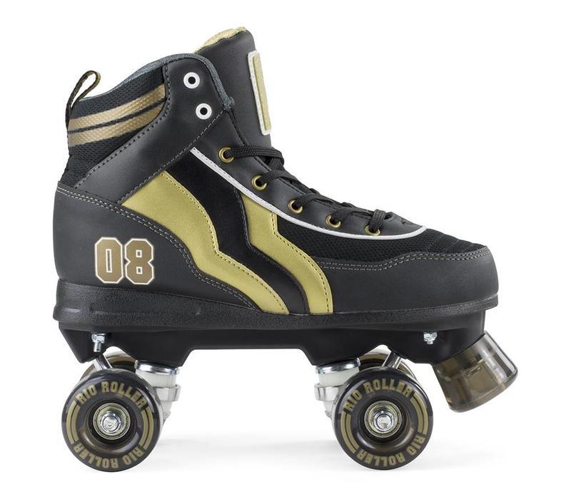 Rio Varsity Black/Gold Roller Skates