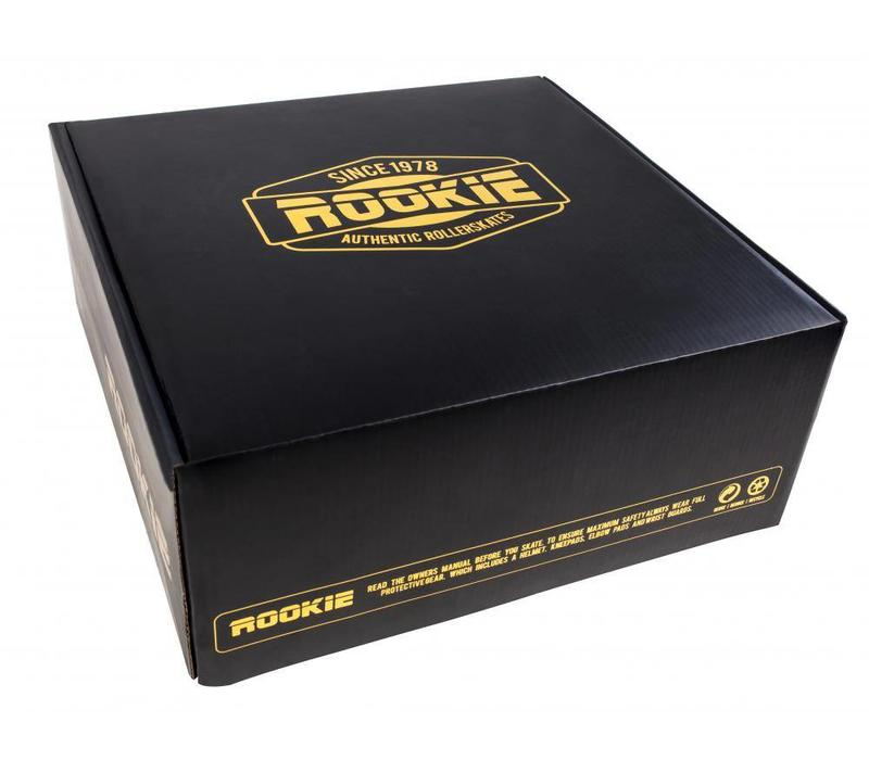 Rookie Authentic Black/Gold Roller Skates
