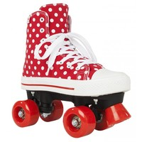 Rookie Canvas High Polka Dots Roller Skates - size 36.5