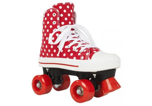 Rookie Rookie Canvas High Polka Dots Roller Skates - size 36.5