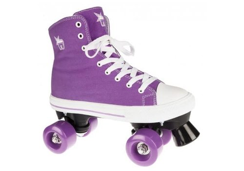 Rookie Rookie Canvas High Purple Roller Skates - 32 EU