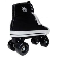 Rookie Canvas High Black Roller Skates