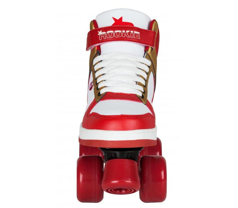 Rookie Hype Red/Gold Roller Skates