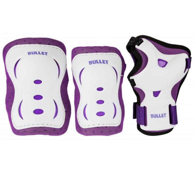 Bullet Triple Padset Jr - Purple/White