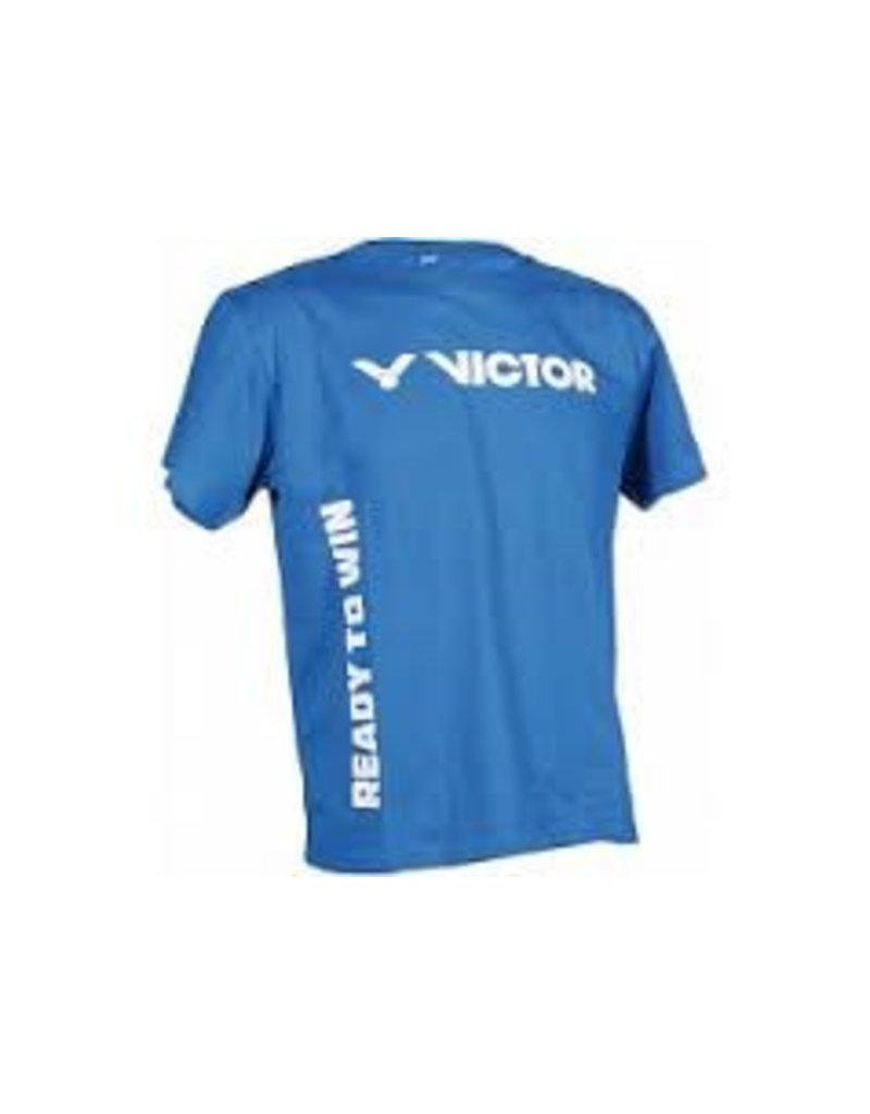 VICTOR Promoshirt Organic blauw