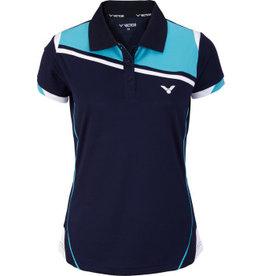 Victor Victor Polo Functie Dames Blauw 6986