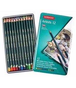 Derwent  Derwent Artists 12 kleurpotloden in een blik