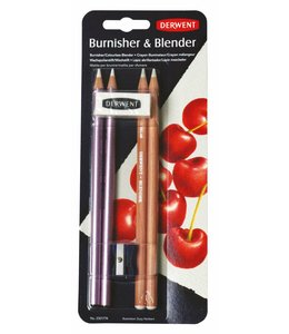 Derwent  Blender und Burnisher Blister (2 x Blender, 2 x Burnisher, 1 Radierer, 1 Anspitzer)
