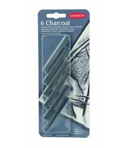 Derwent  Compressed Charcoal Blister mit 6 (2 Stück)