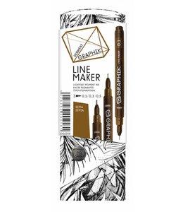 Derwent Graphik Graphik Line Maker Sepia 3er Pack