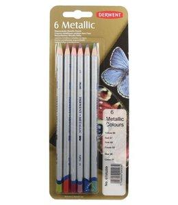 Derwent  Derwent Metallic 6 potloden (gekleurde selectie)