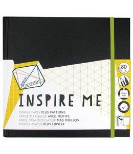 Derwent  Inspire Me schetsboek groot 20cm vierkant