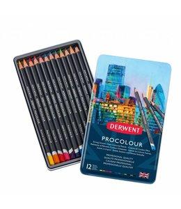 Derwent  Derwent Procolour 12 pencils in a tin