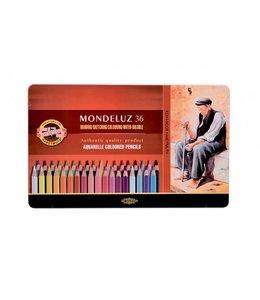 Koh I Noor MONDELUX Aquarelpotood 3725 36 Stifte