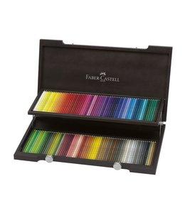 Faber Castell Polychromos 120 lápices de colores en caja de madera.