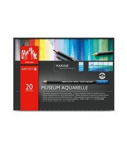 """Caran d'Ache Museum aquarel - 20 Farben Sortiment """"Marine"""""""