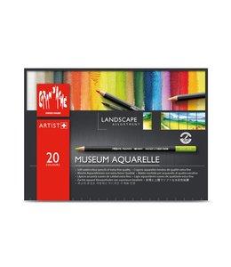 "Caran d'Ache Museum aquarel - 20 kleuren assortiment ""Landschap"""