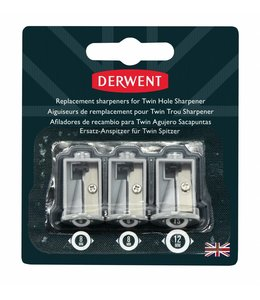 Derwent  Replacement Sharpeners for Battery Operated Twin Hole Sharpener