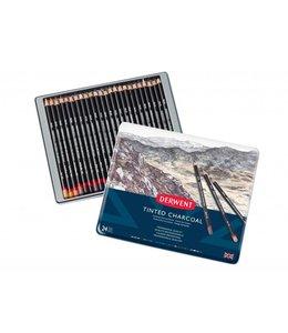 Derwent  Derwent Getinte houtskool 24 Potloden in een blik