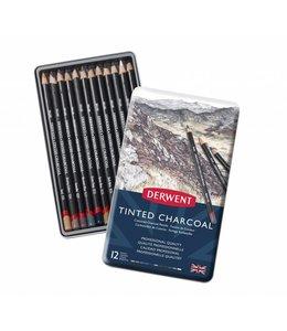 Derwent  Getönte Holzkohle Bleistifte 12 Zinn
