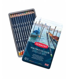 Derwent  Derwent Watercolor 12 aquarelpotloden in een blik