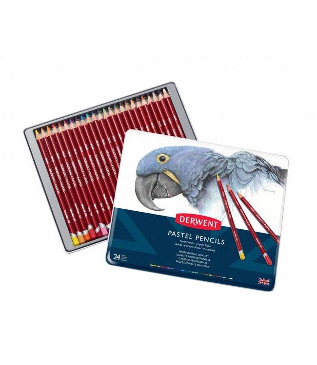 Derwent  Derwent Pastel 24 pastel potloden in een blik