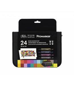 Winsor & Newton ProMarker 24 Mixed Marker Set