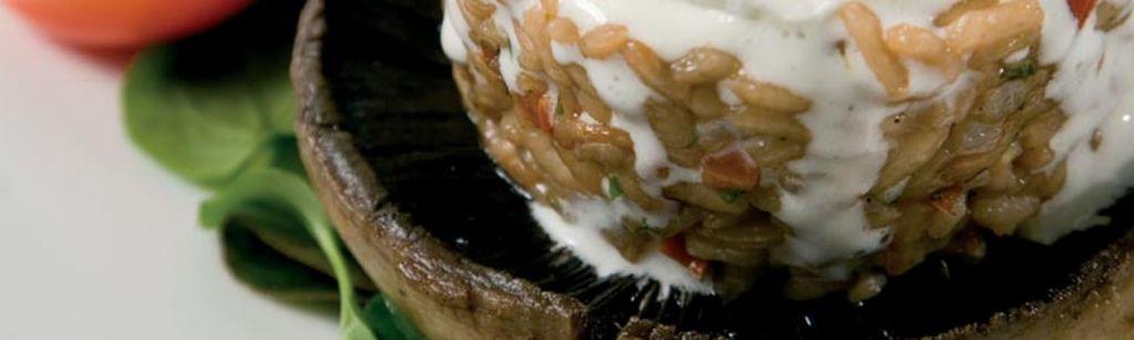 Recept: Zwarte Champignons gevuld met Rooibos risotto