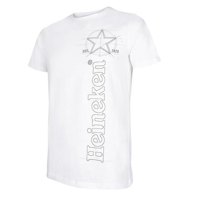 Heineken White Graphic Logo T-Shirt Men
