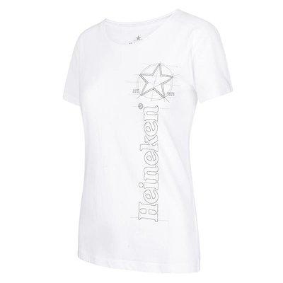 Heineken T-shirt con logo grafica bianca Donna