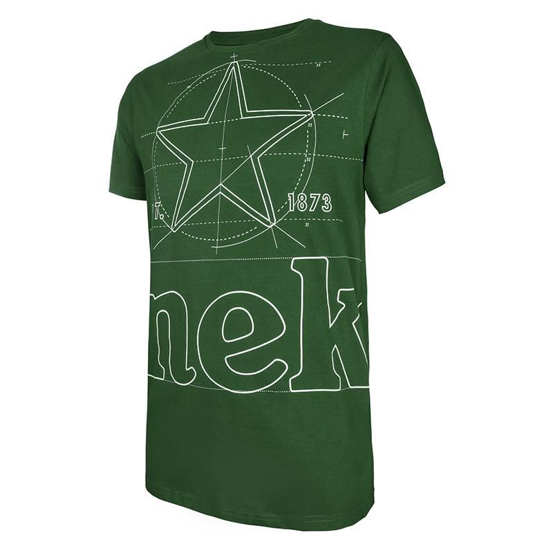 Heineken T-shirt con logo grafica verde Uomo ... 4dce38230b43