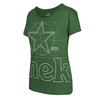 Heineken T-shirt con logo grafica verde Donna