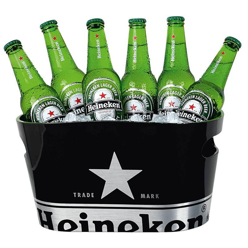 Heineken Single Walled Ice Bucket Black