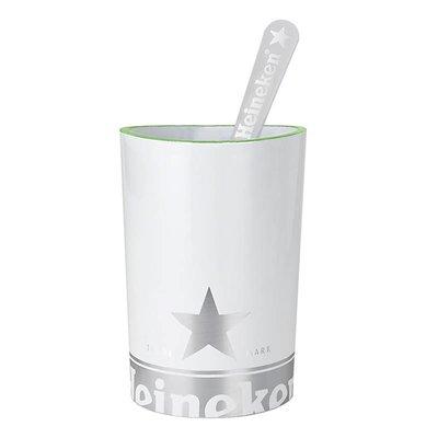 Heineken Porta spatola taglia schiuma Bianco