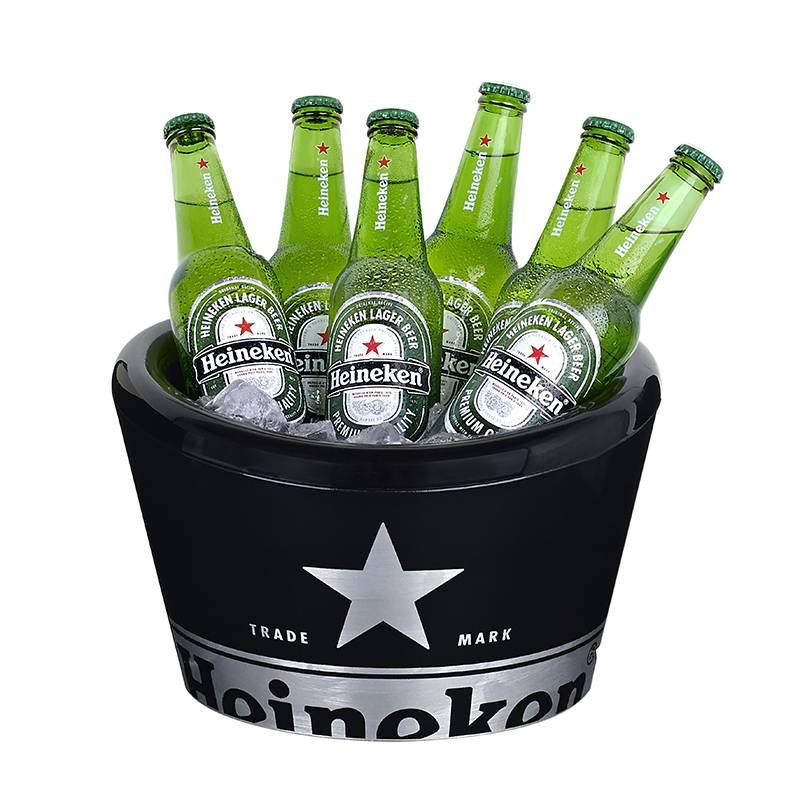 Heineken Secchiello porta ghiaccio a parete doppia Nero