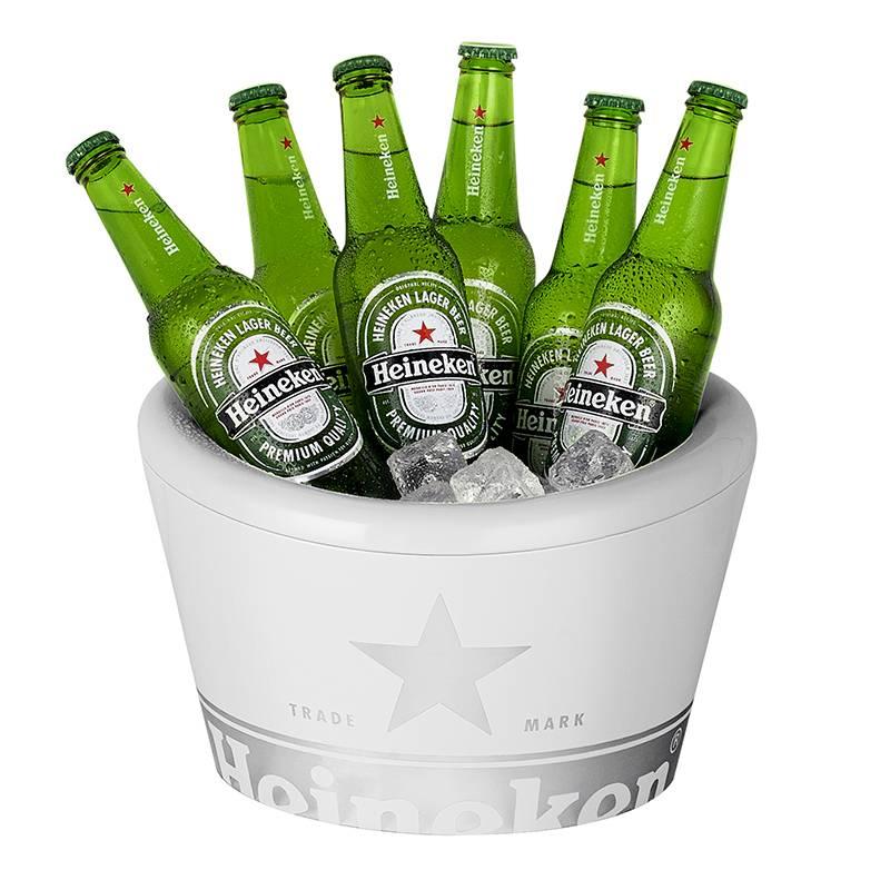 Heineken Secchiello porta ghiaccio a parete doppia