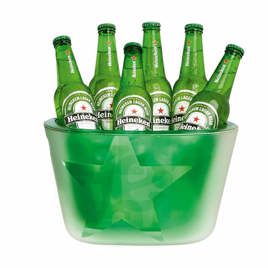 Heineken Secchiello per 6 bottiglie portaghiaccio  a parete doppia