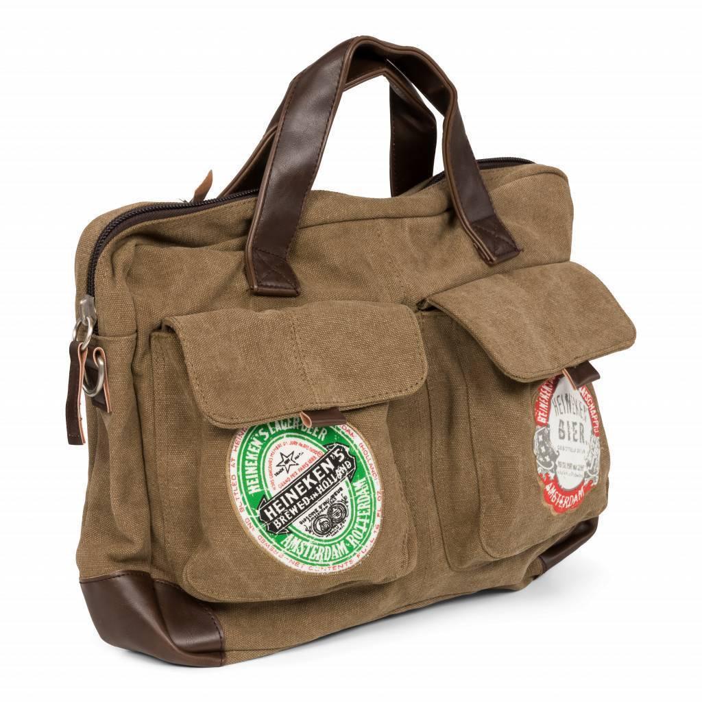 Heineken Borsa messenger tela vintage
