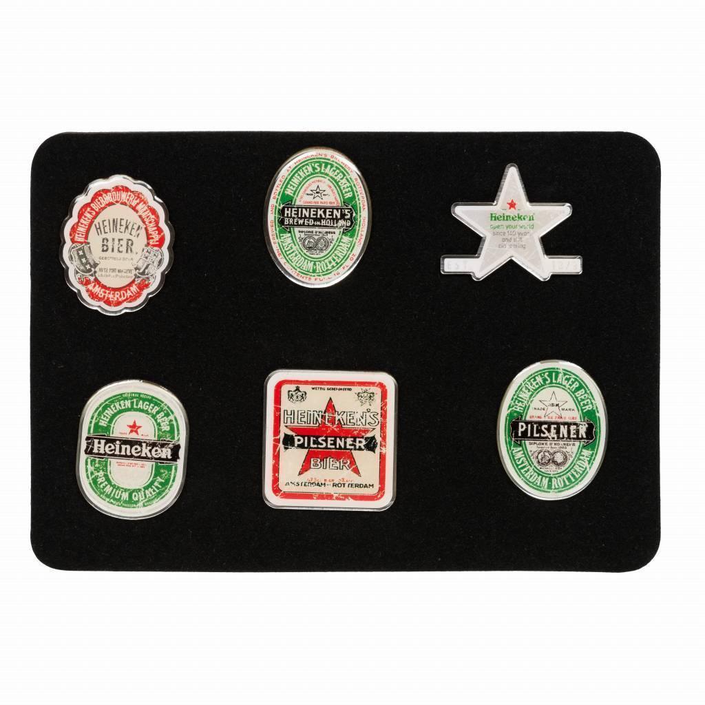 Heineken Cofanetto con 6 spille originali