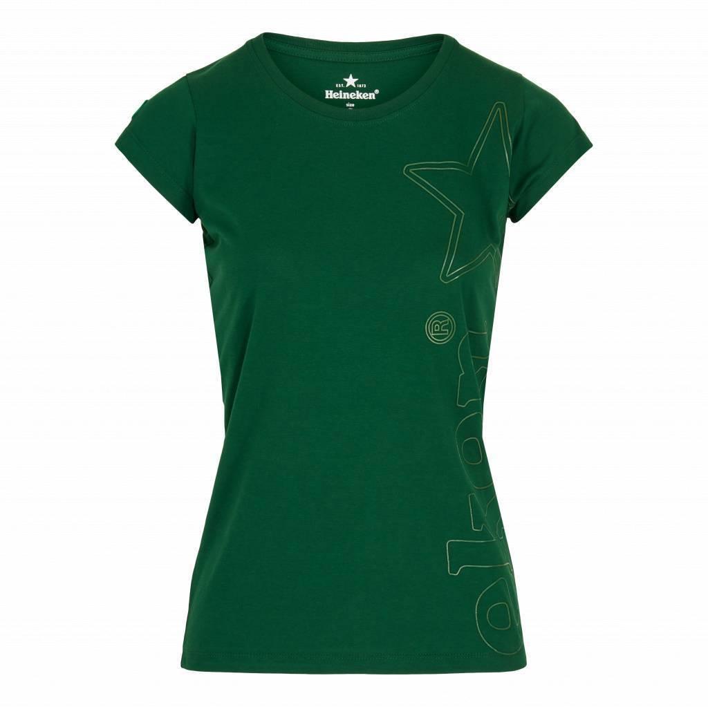 Heineken T-shirt verde scuro da donna