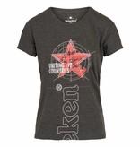 Heineken T-shirt grigia a girocollo da donna