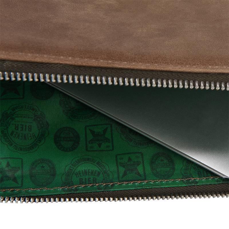 Heineken Custodia per laptop in pelle ''Heritage''