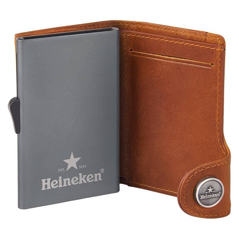 Heineken Porta carte di credito in pelle ''Retro''