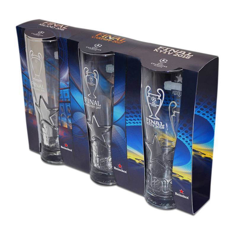 Heineken Set bicchieri da birra UEFA Champions League