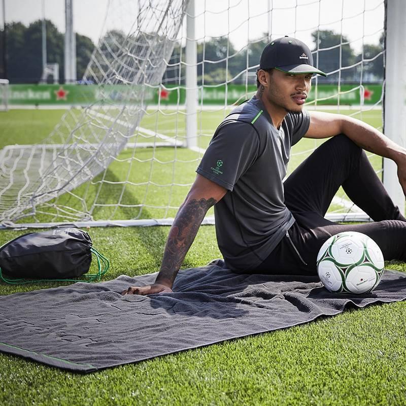 Heineken UEFA Champions League and Heineken Grey Beach Towel