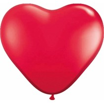 Folat - Ballonnen - Hartjes - Rood - 8st.