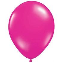 Folat - Ballonnen - Magenta/roze - Metallic - 10st.