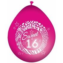 Folat - Ballonnen - Sweet 16 - Roze - 8st.