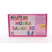 Folat - Opblaasletters - Hoera Sarah 50