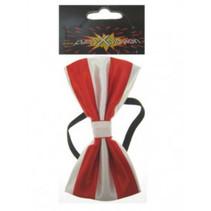 PartyXplosion - Strik - Luxe - Rood/wit - 12x6.5cm